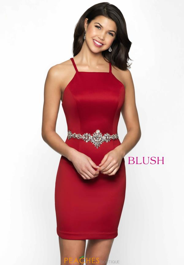 Blush Fitted Short Dress B129