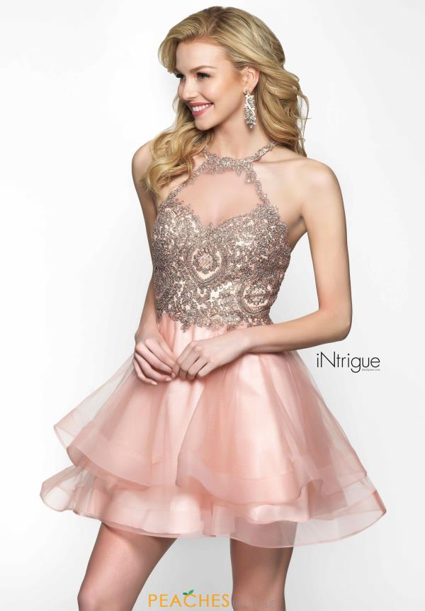 Intrigue by Blush Beaded Short Dress 472