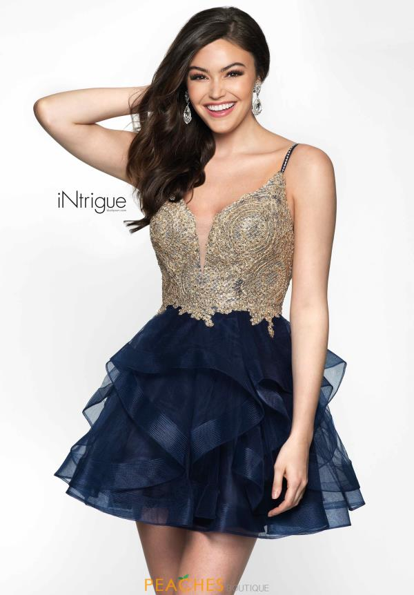 Intrigue by Blush Short Navy Dress 473