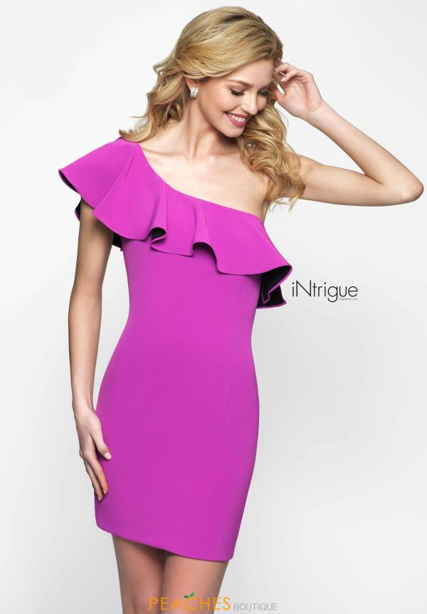 Intrigue by Blush One Shoulder Fitted Dress 481