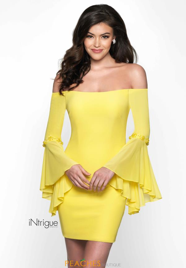 Intrigue by Blush Off the Shoulder Fitted Dress 483