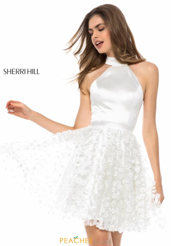 Sherri Hill Short Ivory Dress 51835