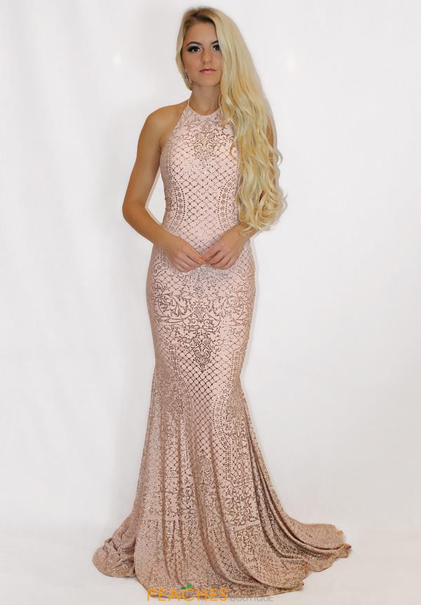 Jovani Long Beaded Dress 60137