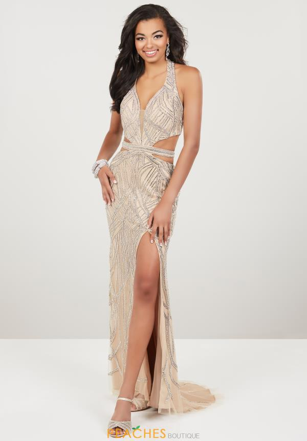 Panoply V- Neckline Fitted Dress 14956