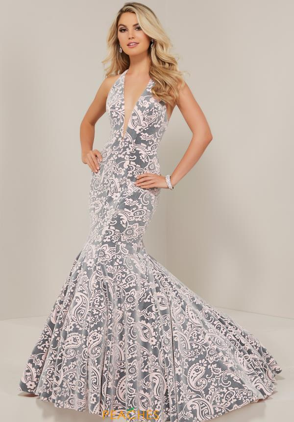 Tiffany V-Neck Mermaid Dress 16354