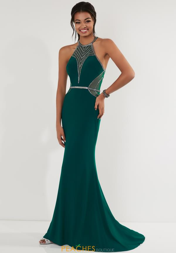 Studio 17 High Neckline Beaded Dress 12708