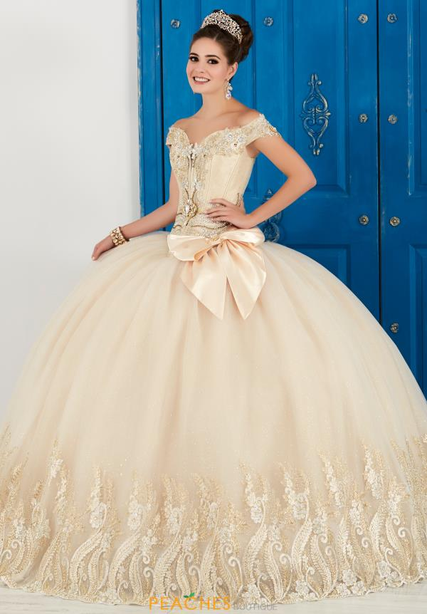 Tiffany Quinceanera Cap Sleeve Gown 24043