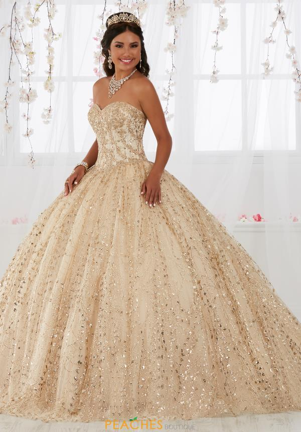 champagne rose gold quinceanera dress