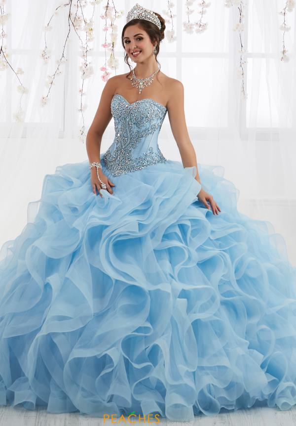 Tiffany Quinceanera Strapless Beaded Gown 26916