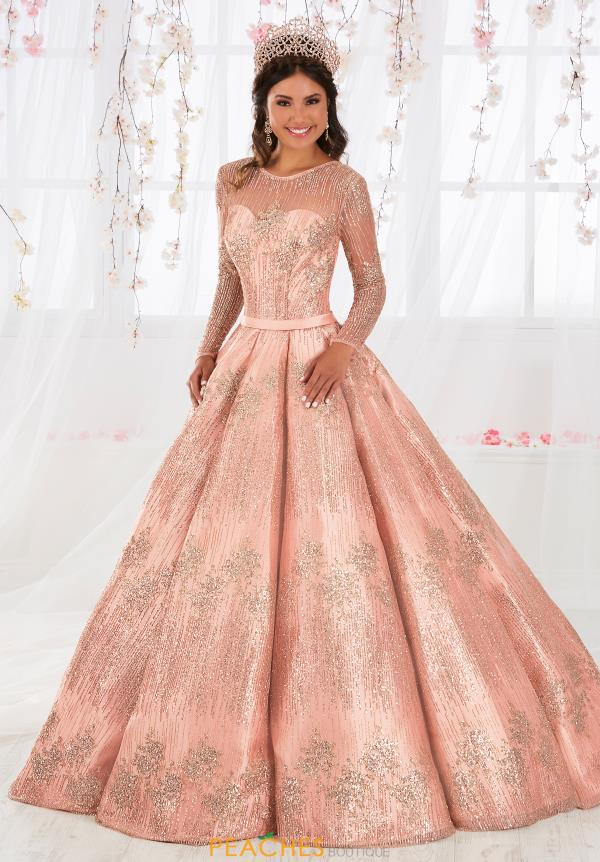 Tiffany Quinceanera Long Sleeved Ball Gown 26917