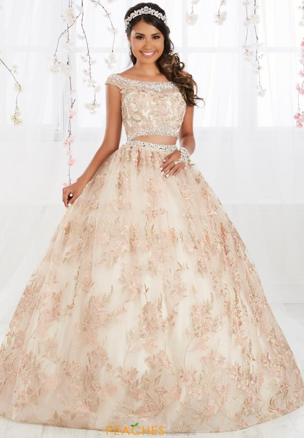 Tiffany Quinceanera Cap Sleeved Ball Gown 56370