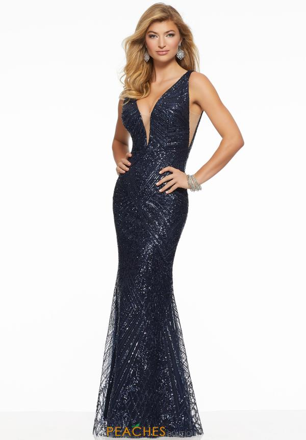 Mori Lee V-Neck Sequins Dress 43007