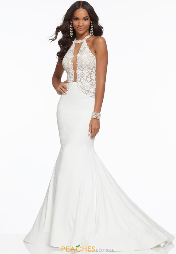 Mori Lee Halter Jersey Dress 43014