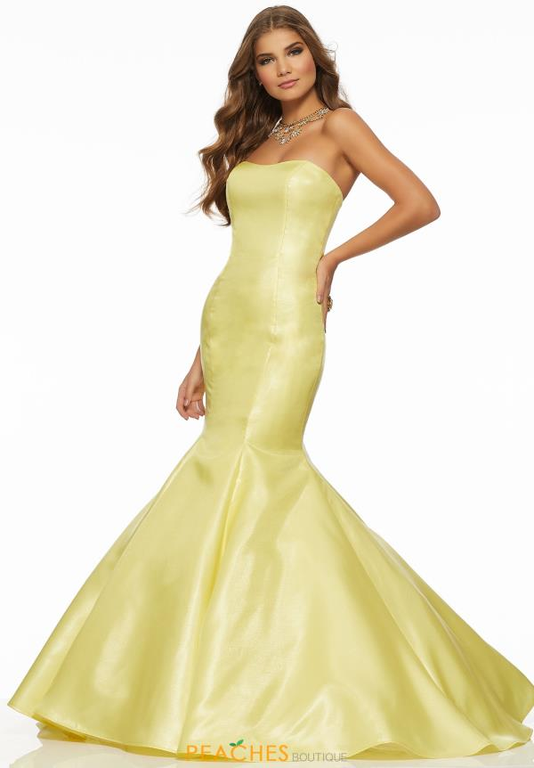 Mori Lee Full Figured Strapless Dress 43019