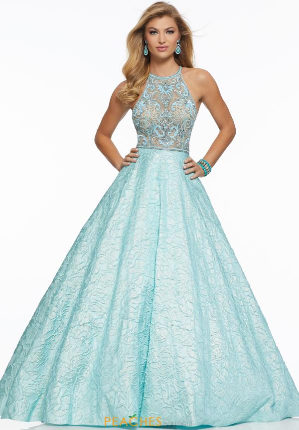 Mori Lee A Line Beaded Dress 43021