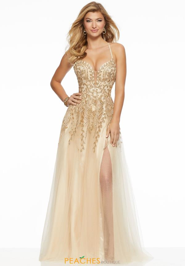 Mori Lee Beaded A Line Dress 43027