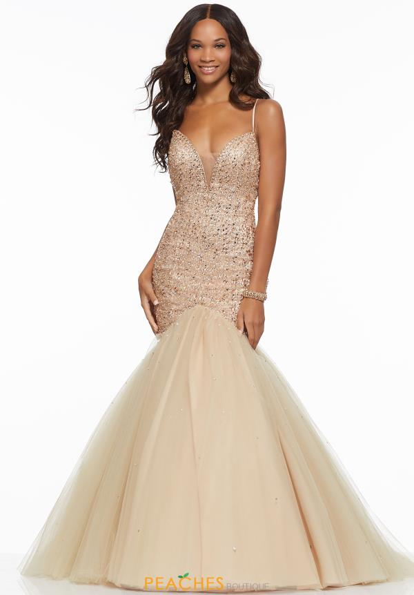 Mori Lee Tulle Mermaid Dress 43029