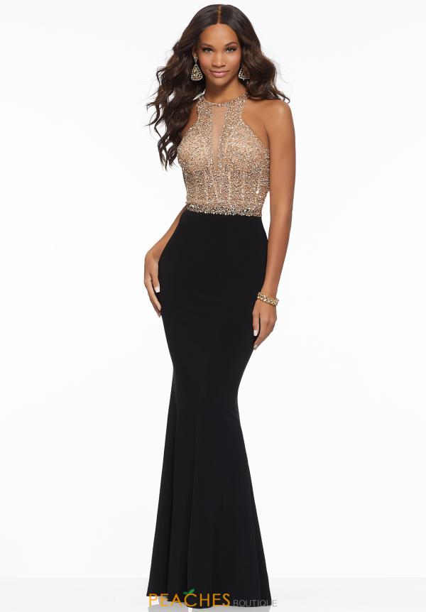 Mori Lee Jersey Beaded Dress 43037