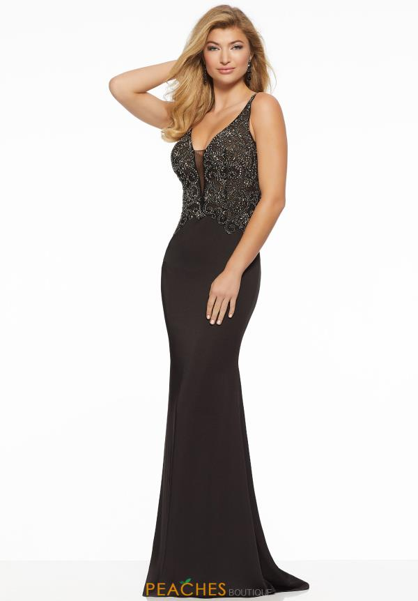Mori Lee Scoop Beaded Dress 43043