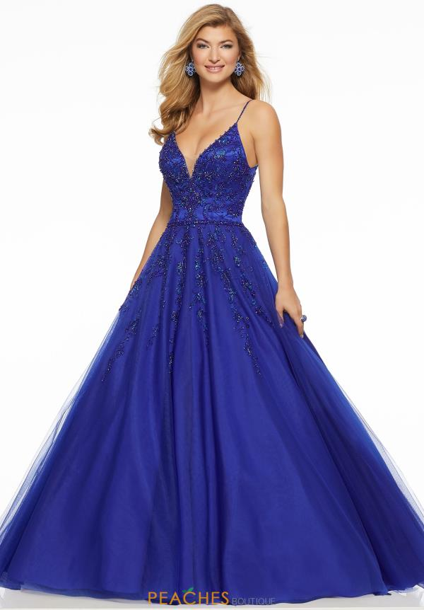 Mori Lee V-Neck Beaded Dress 43044