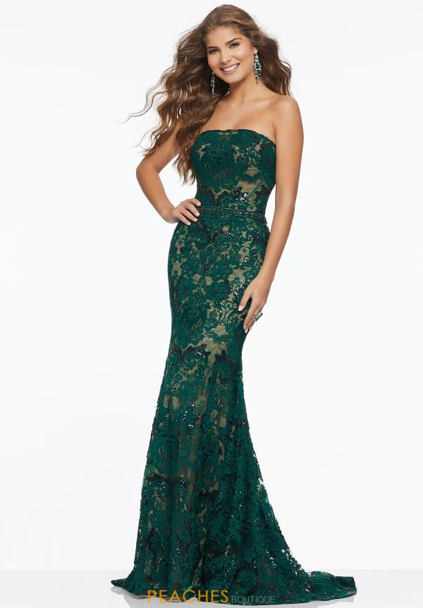 Mori Lee Strapless Fitted Dress 43045