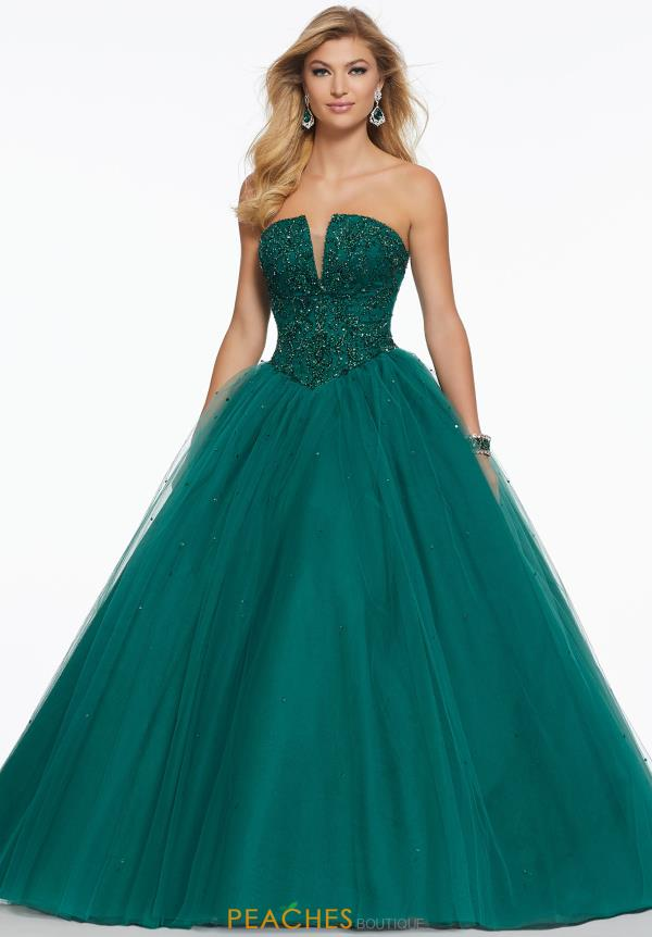 Mori Lee Strapless Beaded Dress 43046