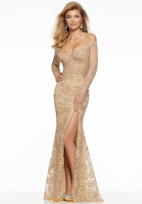 Mori Lee Off the Shoulder Fitted Dress 43052