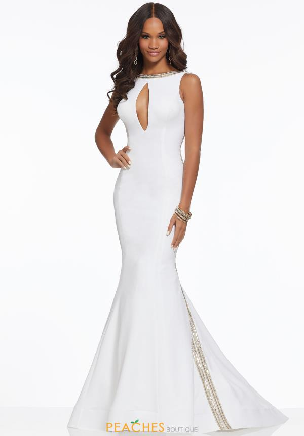 Mori Lee High Neckline Fitted Dress 43053A
