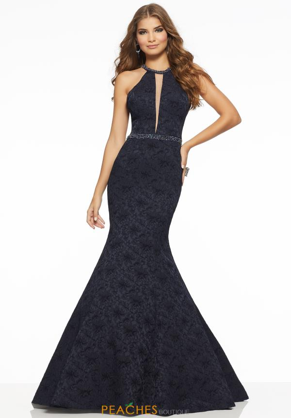 Mori Lee Halter Beaded Dress 43058