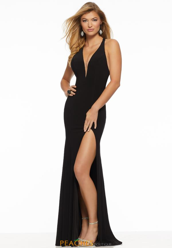 Mori Lee Sexy Back Jersey Dress 43063