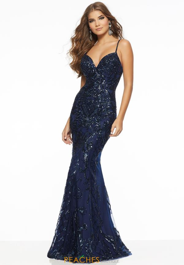 Mori Lee Fitted Sequins Dress 43065
