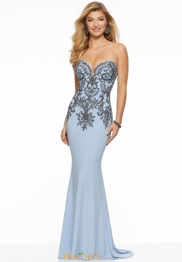 Mori Lee Jersey Fitted Dress 43075