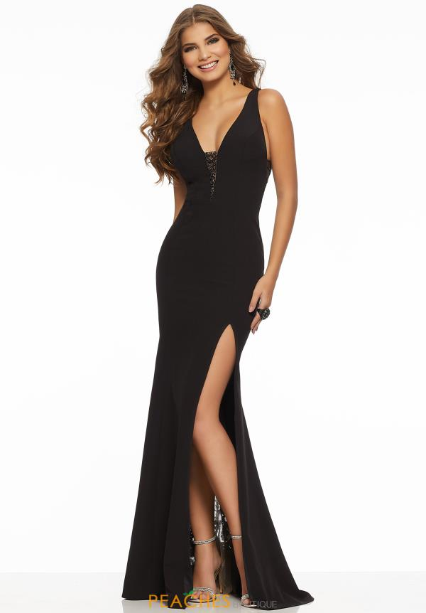 Morilee V-Neck Jersey Dress 43088
