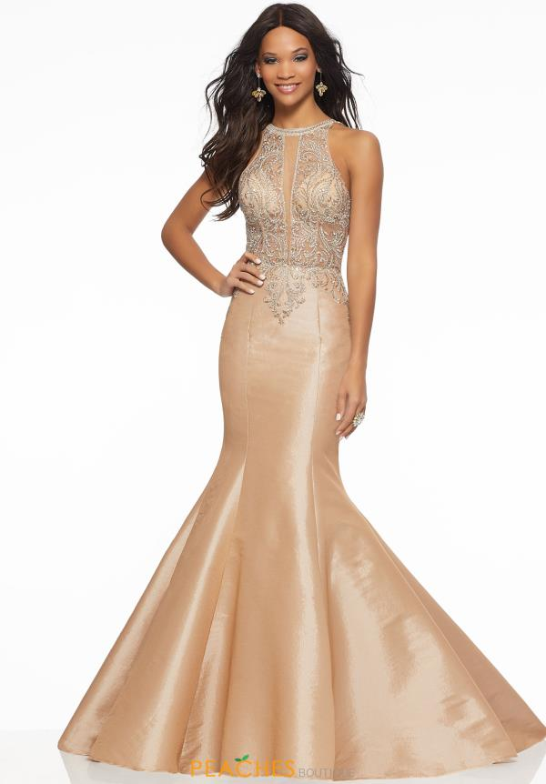 Morilee High Neckline Beaded Dress 43097