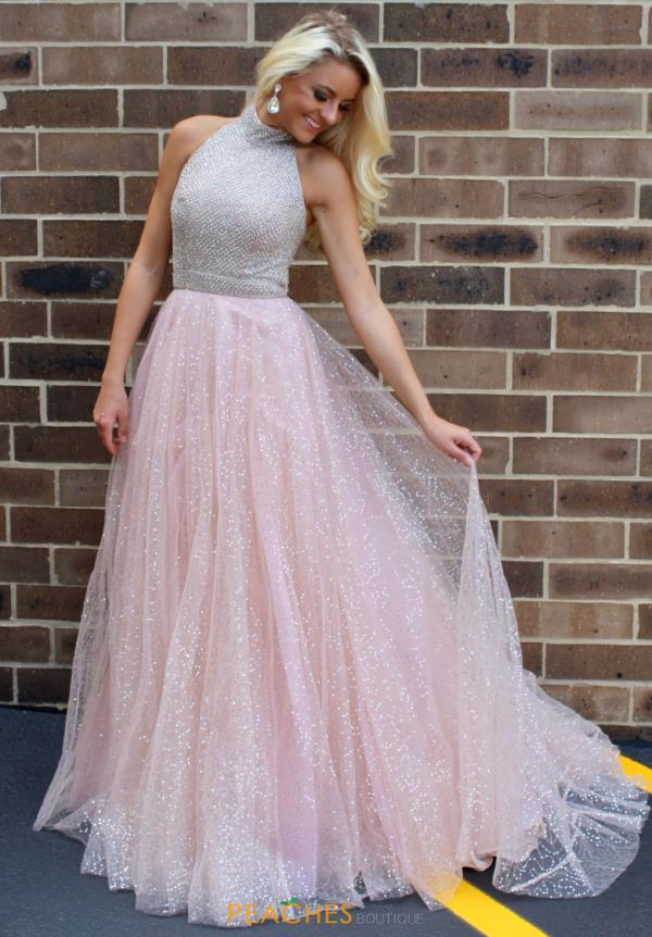 Sherri Hill Long Tulle Skirt Dress 52266