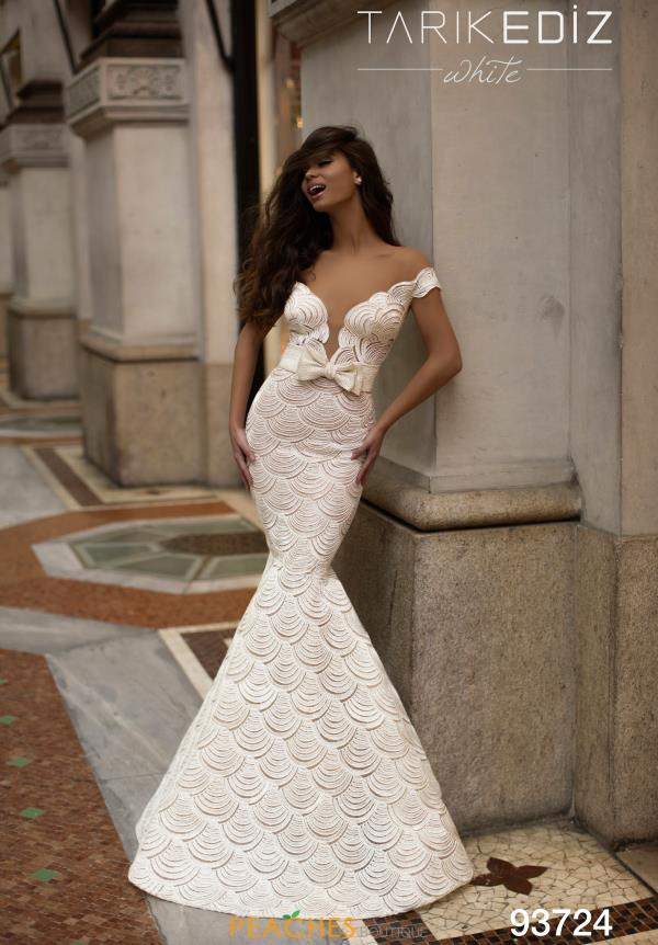Tarik Ediz Lace Mermaid Dress 93724