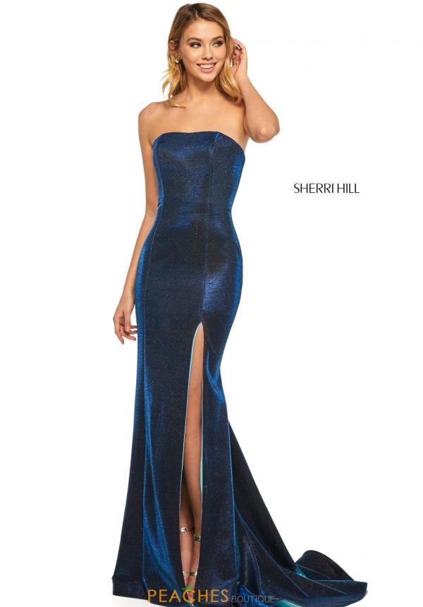 Sherri Hill Strapless Mermaid Dress 52362