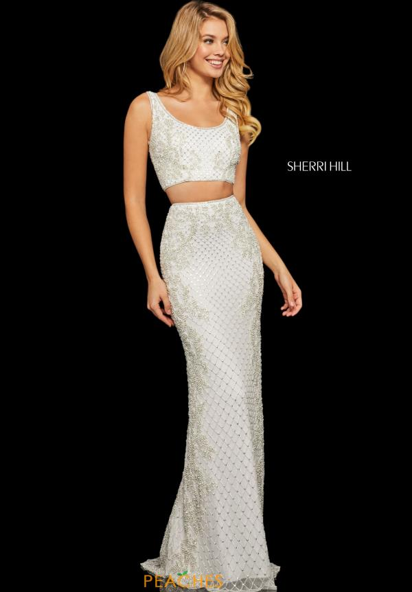 Sherri Hill Two Piece Beaded Dress 52686