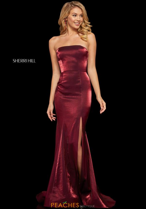 Sherri Hill Strapless Mermaid Dress 52961