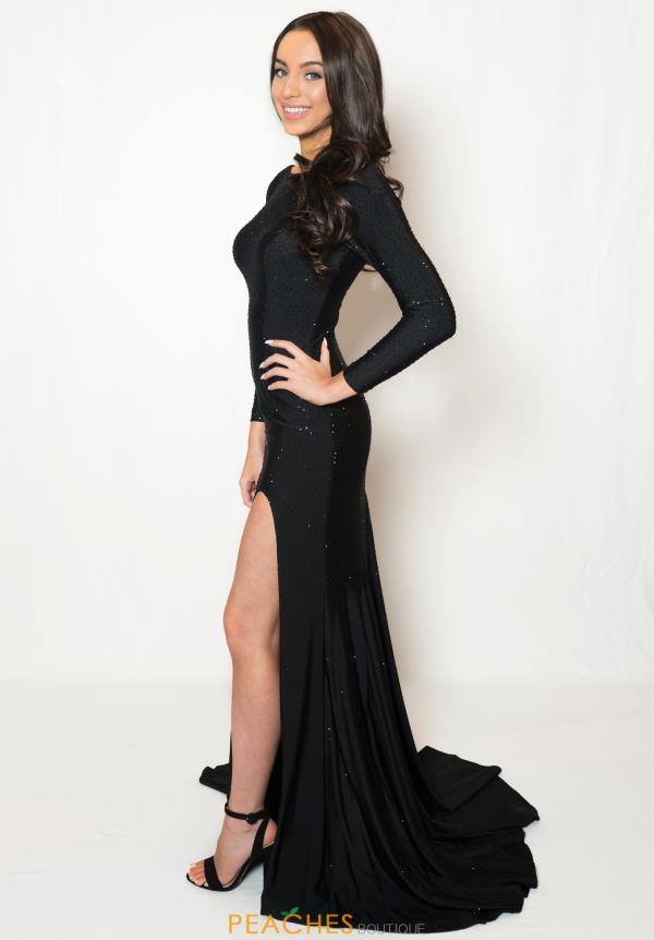 Sherri Hill Sleeved Fitted Dress 52791