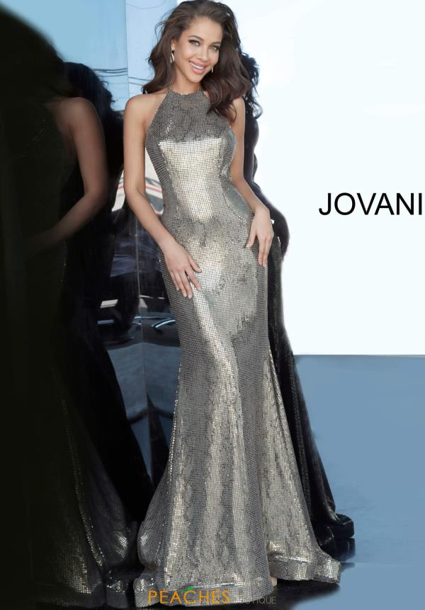 Jovani Shimmery Fitted Dress 00689