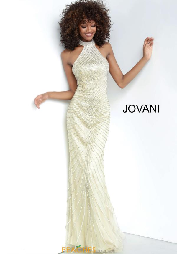 Jovani  Beaded Halter Dress 00834