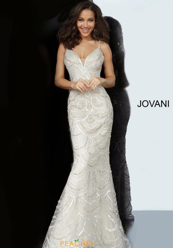 Jovani Beaded Fittted Dress 00861