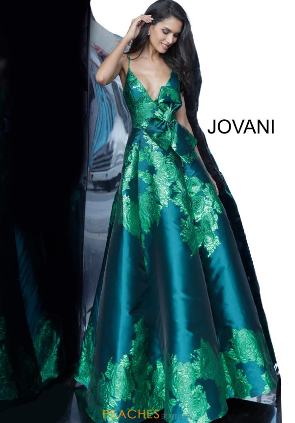 Jovani V Neck Ball Gown Dress 02046