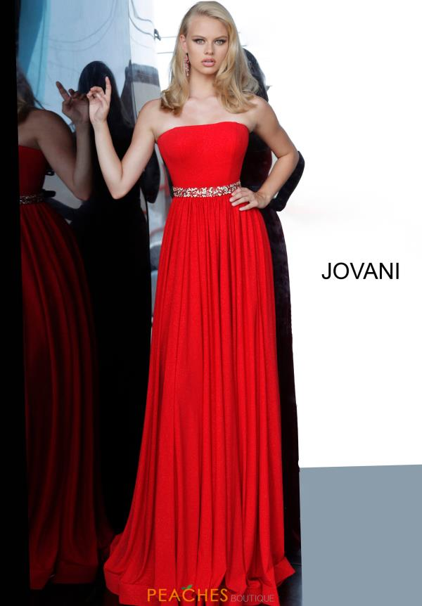 Jovani Long Beaded Dress 02379