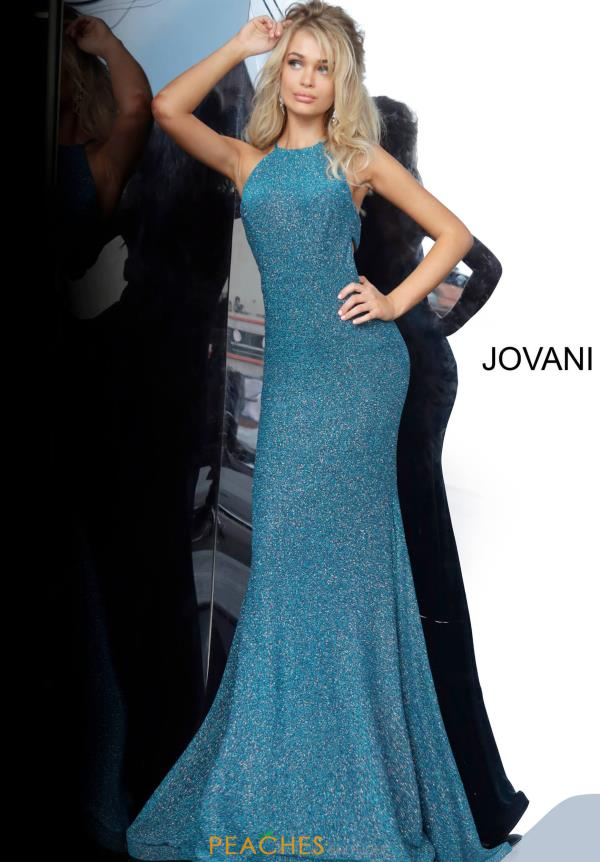 Jovani Long Shimmer Dress 02467