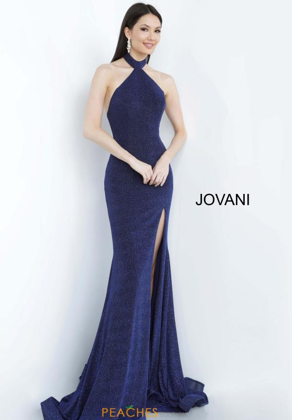 Jovani Sparkly Halter Dress 03463
