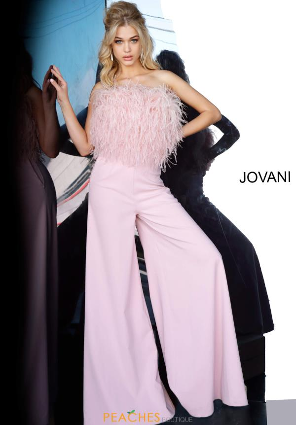 Jovani Feather Jumpsuit 1542