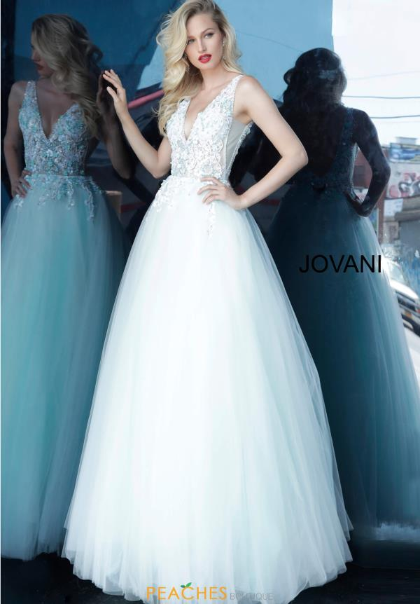 Jovani Beaded Ball Gown Dress 1813