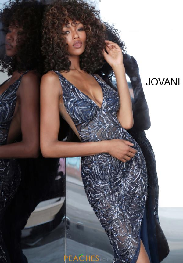 Jovani Beaded V-Neck Dress 1863